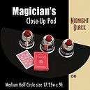 "Magic Makers Medium Half Circle Close-up Pad (17.25"" X 9"") Midnight Black"