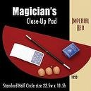 "Magic Makers Standard Size Half Circle Close-up Pad (22.5"" x 11.5"") Imperial Red"