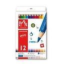 Caran dAche Fancolor Maxi Colored Pencil Kit (12 Colors)