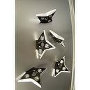 Ninja Pro Throwing Star/Shuriken Magnet- x5 PIECES!