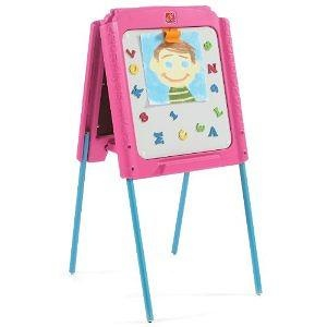 Step2 Girls Sketch and Store Easel, Pink/Blue