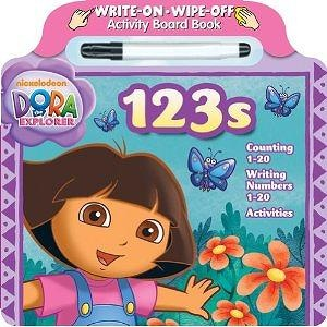 Bendon Dora the Explorer 123s Write and Wipe Board Book with Marker