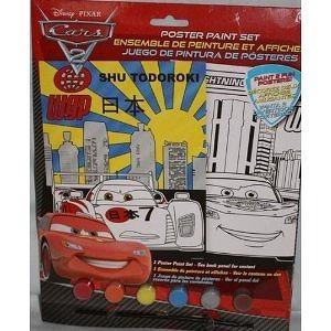 Disney Pixar Cars 2 Shu Todoroki & Lightning McQueen Poster Paint Set Incl: Markers