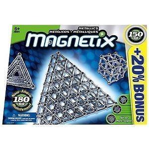 Magnetix 150 Piece Metallic Silver Set