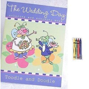 The Toodle and Doodle Wedding Day Coloring Book with Crayons