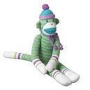 Midwest-CBK Hobart Zig-Zag Sock Monkey Collectible, Green, Medium