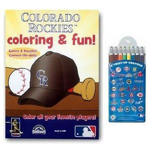 MLB Colorado Rockies Coloring Book Two Pack with Twist Crayons