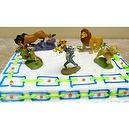 Adorable, Hard to Find Lion King 5 Piece Birthday Cake Topper Featuring Scar, Simba Cub, Simba Adult, Nala, Rafiki, And Timon