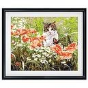 Plaid 21701 Paint By Number Kit, Cats Garden, 16-Inch by 20-Inch