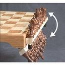 HoldenArt Magnetic Bamboo Chess Set w/ Hinging Shelves