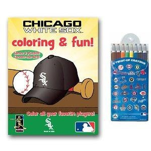 MLB Chicago White Sox Coloring Book Two Pack with Twist Crayons