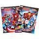 2-Pack The Mighty Avengers Marvel Heroes Coloring Book Set for Kids with Bonus Crayons