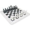 "16"" x 16"" White Marble & Black Marble Chess Set Staunton Comes in Free Gift Box, Size Suitable for Pros"