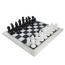 Marble Art India Games Chess Set Board and Pieces Handcrafted by Artisans of Agra