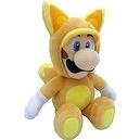 "Sanei Super Mario Plush Series Doll: 13"" Kitsune Fox Luigi (M)"
