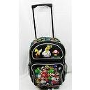 "16"" Super Mario Brothers Black Rolling Backpack-tote-bag-school"