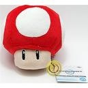 "Official Nintendo Mario Kart Vol. 1 Plush Toy - 4.5"" Red Mushroom (Japanese Import)"