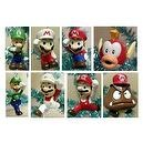 "Unique Mario Brothers 12 Piece Holiday Christmas Tree Ornament Set Featuring 2"" to 3"" Ornaments of Luigi, Super Mario, Fire Mar"