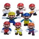 Super Mario Brothers Master of the Martial Arts Karate Themed Mario 10 Piece Figure Playset