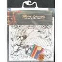 Pirates of the Caribbean Doodle Kit - 6 Posters and 8 Colored Markers