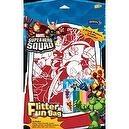 Marvel Superhero Squad Flitter Fun Bag velvet poster to color