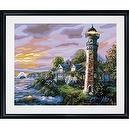 Plaid 21705 Paint By Number Kit, Lighthouse Cottage, 16-Inch by 20-Inch
