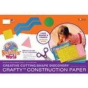 "Roselle Crafty Construction Paper Pad, ""Levels 1 and 2"" of Cutting Skills Assortment Pad, 18 x 12 Inches, Assorted Colors, 60 C"