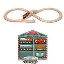Melissa & Doug Classic Wooden Figure Eight Train Set with 8 Piece Wooden Train Cars Set