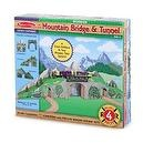 2 Item Bundle: Melissa & Doug 637 Mountain Bridge and Tunnel Set + Free Gift - Fits Thomas Train Tracks