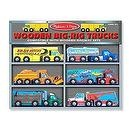 2 Item Bundle: Melissa & Doug 685 Deluxe Wooden Big Rig Truck Set + Free Gift - Fits Thomas Train Tracks