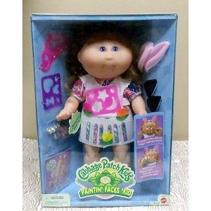 Retired Vintage 1996 Cabbage Patch Kids Painting Faces Kid with Magic Makeup Crayons, Outfit, Stencils, and Dress Up Clothes