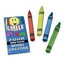 Mini Smile Crayons/4-Bx (144 Pieces) - Bulk