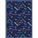 "Educational Crayons Kids Rug Size: 310"" x 54""  Blue Crayons Rug"
