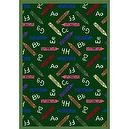 "Educational Crayons Green Kids Rug Size: 310"" x 54""  Green Crayons Rug"