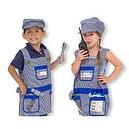 2 Item Bundle: Melissa & Doug 4836 Train Engineer Role Play Costume Set + Free Activity Book