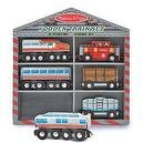 2 Item Bundle: Melissa & Doug 641 Wooden Train Cars Set + Free Gift - Fits Thomas Train Tracks