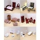 Melissa and Doug Victorian Dollhouse Furniture - Deluxe 6 Room Set