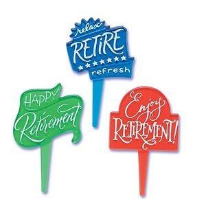 12 ct - Happy Retirement Party Cupcake Picks