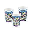 HAPPY BIRTHDAY CAKE CUPS (250 PIECES) - BULK