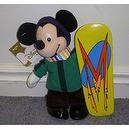"Disney Snowboarder Hit the Slopes Snowboarding Mickey Mouse 8"" Plush Bean Bag Doll"