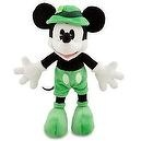 "Hard to Find Disney St. Patricks Day Lucky Green Shamrock 8"" Plush Mickey Mouse Doll - New with Tags"