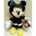 "Disney Mickey Mouse Clubhouse American Hero 11"" Poseable Plush Mickey Mouse Firefighter Fireman Doll"