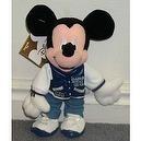 "Disney Hot Stuff High School Letterman 9"" Plush Mickey Mouse Bean Bag Doll"