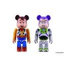 Medicom Toy Story 3: Buzz  and  Woody Bearbrick 2-Pack 2