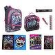 "MONSTER HIGH 16"" Monster Peek Backpack & ULTIMATE Back to School Set includes Lunch Box, Folders, Spiral, Book Cover and More"
