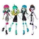 Monster High Roller Maze Set of 4: Operetta, Ghoulia, Frankie, & Lagoona