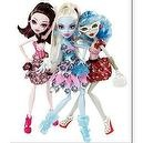 Monster High Dot Dead Gorgeous -- Set of 6 Dolls, Abby, Ghoulia, Spectra, Draculara, Operetta, Lagoona