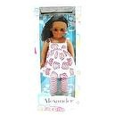 Madame Alexander African American 18 inch Doll - Mia Bella - White and Red Print Top with Red Striped Leggings