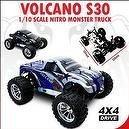 Redcat Racing Volcano S30 Blue 1/10 Scale Nitro Monster Truck