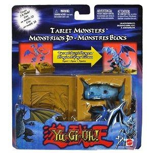 Mattel Year 2004 Yu-Gi-Oh! Tablet Monsters Series 4 Inch Tall 3-D Model Action Figure - TYRANT BURST DRAGON with Tablet Case